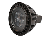 Brilliance Dimmable 5W 8V-25V 3000K 30 Degree LED MR16, Enclosed Rated