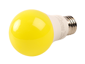 Greenlite Non-Dimmable 9W Yellow A19 Bug Light LED Bulb, Enclosed Fixture Rated