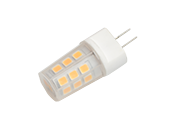 EmeryAllen Dimmable 2.5W 12V 3000K JC LED Bulb, G4 Base, Enclosed Fixture Rated