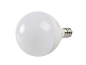 90+ Lighting Dimmable 5W 2700K 92 CRI G-16.5 Frosted Globe LED Bulb, E12 Base, JA8 Compliant