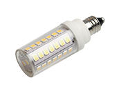 Bulbrite Dimmable 5W 120V T3 2700K LED Bulb, E11 Base, Enclosed Rated