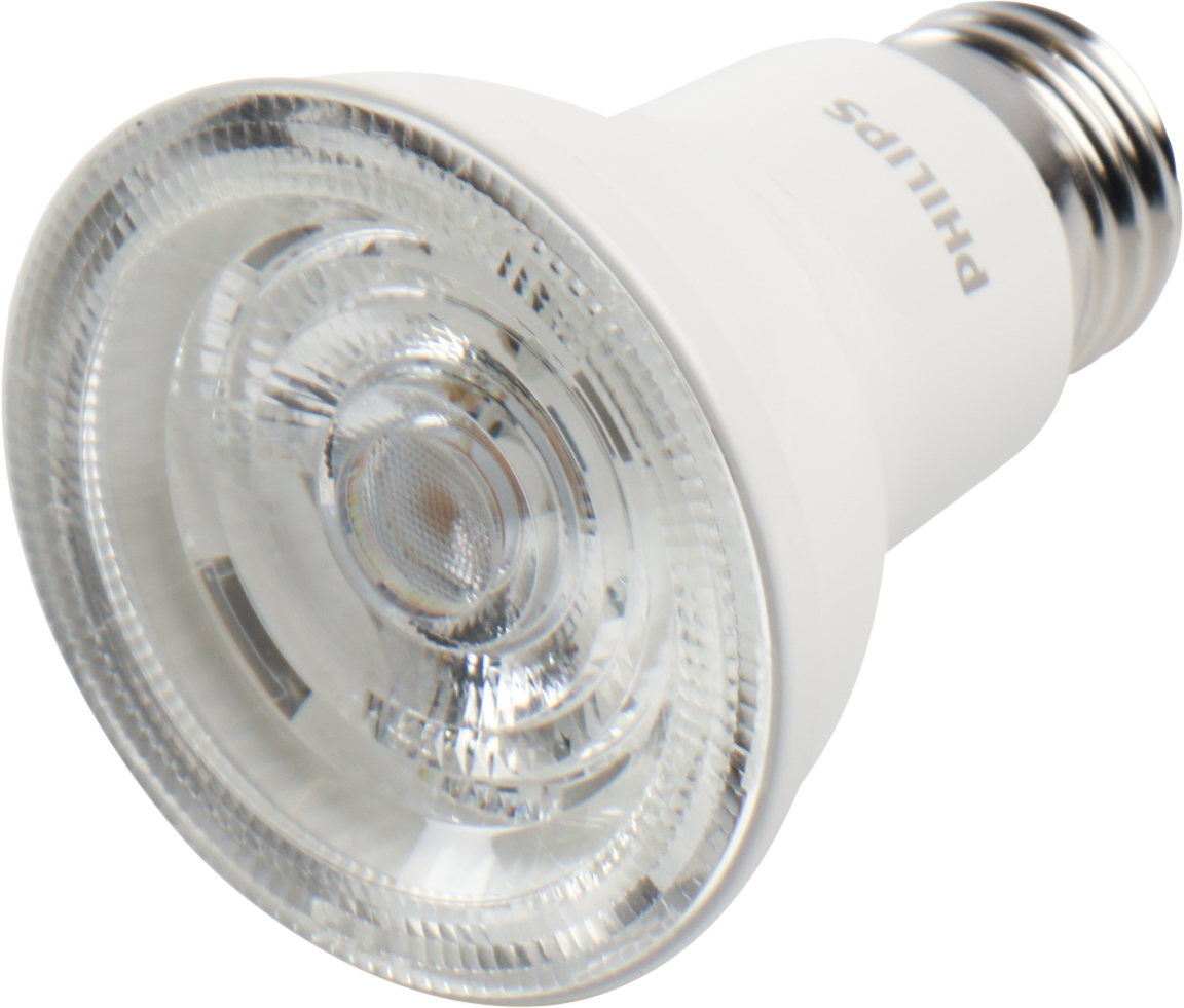 Philips Dimmable 8.5W 3000K 40 Degree 95 CRI PAR20 LED Bulb, Enclosed Fixture Rated