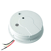 Kidde P12040 Photoelectric Smoke Alarm with Battery Backup, 120VAC