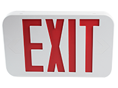 Maxlite LED Exit Sign with Battery Backup, Red Letters, Title 20 Compliant