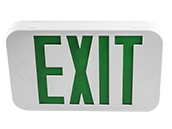 Maxlite LED Exit Sign with Battery Backup, Green Letters, Title 20 Compliant