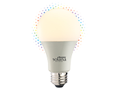 Bulbrite Solana WiFi RGB and White Color Adjusted A19 LED Bulb, No Hub Needed, Title 24 Compliant