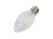 0.5W Warm White C7 Holiday LED Bulb with Faceted Lens, Outdoor Rated