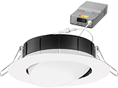 Lithonia WF4 ADJ Wafer, 9.7W, 120V 2700/3000/3500K Color Switchable Dimmable LED 4