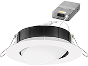 Lithonia WF4 ADJ Wafer, 10W, 120V 3000/4000/5000K Color Switchable Dimmable LED 4
