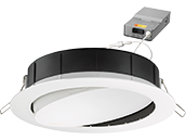 Lithonia WF6 ADJ Wafer, 12W, 120V 2700/3000/3500K Color Switchable Dimmable LED 6