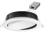 Lithonia WF6 ADJ Wafer, 12W, 120V 3000/4000/5000K Color Switchable Dimmable LED 6