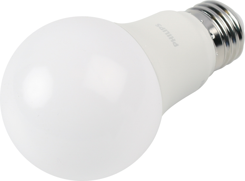 Philips Dimmable 8.8W 2700K A19 LED Bulb, 90 CRI, Title 20 Compliant, Enclosed Fixture Rated