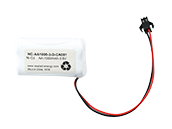 3.6 Volt 1000 mAh Ni-Cad Battery, 3 AA Cells, Triangle Configuration
