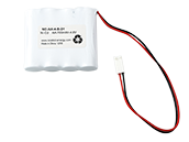 4.8 Volt 700 mAh Ni-Cad Battery, 4 AA Cells, Side-by-Side Configuration