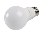 Maxlite Dimmable 9 Watt 3000K A19 LED Bulb, Enclosed Rated