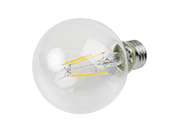 TCP Dimmable 4W 3000K G25 Filament LED Bulb, Enclosed Fixture Rated