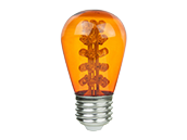 Sunlite 1.1 Watt Sea Turtle and Wildlife Certified Amber S-14 LED Lamp, Non-Dimmable