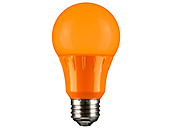Sunlite 3 Watt Sea Turtle and Wildlife Certified Orange A-19 LED Lamp, Non-Dimmable