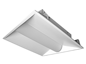 Maxlite Dimmable 20 Watt 3500K 2x2 ft LED Recessed Troffer Fixture with Bi-Level Motion Sensor