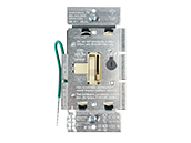 Lutron Ariadni 150W, 120V LED/CFL Slide Dimmer and Toggle On/Off 3-Way Switch, Ivory