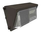 100 Watt, 400 Watt Equivalent 5000K Forward Throw LED Wallpack Fixture