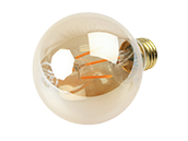 NaturaLED Dimmable 5W 2200K 90 CRI G-25 Vintage Filament LED Bulb, Outdoor Rated and JA8 Compliant