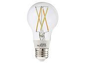 Bulbrite WiFi White Color Adjusted 5.5W Clear Filament A19 LED Bulb, No Hub Needed, Outdoor Rated