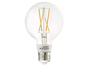 Bulbrite Solana WiFi White Color Adjusted 5.5W Clear Filament G25 LED Bulb, No Hub Needed, Outdoor Rated