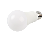 Euri Lighting Non-Dimmable 4W, 8W, 14W 3-Way 4000K A19 LED Bulb, Enclosed Fixture Rated