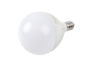 Maxlite Dimmable 5W 2700K 90 CRI G-16.5 Frosted Globe LED Bulb, E12 Base, Title 20 Compliant