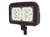 Halco 150 Watt HID Equivalent, 50 Watt Color Adjustable (3000K/4000K/5000K) LED Flood Light Fixture With 1/2