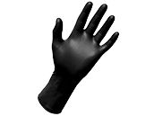 Nitrile Large Powder Free Black Gloves (Pack of 100)