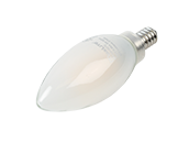 Maxlite Dimmable 5W 2700K Decorative Frosted Filament LED Bulb, Enclosed Fixture and Wet Rated