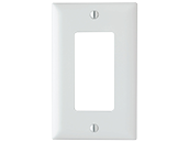 Legrand/Pass & Seymour Trademaster Decorator Opening Single Gang Wallplate, White