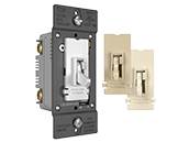 Legrand/Wattstopper TSDCL303PTC 300W, 120V LED/CFL Slide Dimmer and Toggle On/Off Single Pole/3-Way Switch, Tri-Color