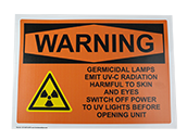 UVC Germicidal Magnetic Warning Sign