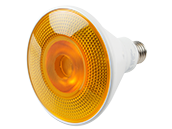 TCP Non-Dimmable 10W Yellow 40° PAR38 LED Bulb, Outdoor Rated