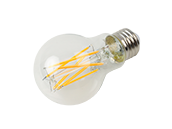 Bulbrite Dimmable 9W 2700K 90 CRI A19 Filament LED Bulb, Enclosed Fixture and Wet Rated