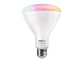 Cree Tunable White & Color Changing Bluetooth & WiFi 8 Watt 90 CRI BR30 LED Bulb, No Hub Needed, Title 20 Compliant