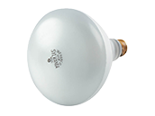 125 Watt, 120 Volt BR40 Clear Safety Coated Reflector Bulb. WARNING:  THIS BULB IS NOT TO BE USED NEAR LIVE BIRDS.