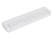 LED White Ultra-Thin Undercabinet Wireless Battery Operated Light Fixture