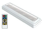 LED White Undercabinet Battery Operated Light Fixture with Remote