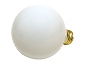 Bulbrite 25W 120V G25 White Globe Bulb, E26 Base