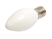 7 Watt, 130 Volt C9 White Indicator, Holiday Bulb