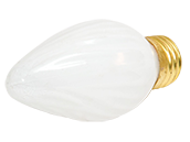 Bulbrite 25W 130V F15 White Fiesta Decorative Bulb, E26 Base