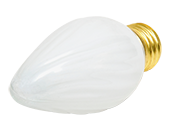 Bulbrite 40W 130V F15 White Fiesta Decorative Bulb, E26 Base