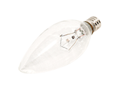Bulbrite 25W 120V Clear Krypton Blunt Tip Decorative Bulb, E12 Base