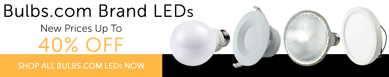 New low prices on Bulbs.com brand bulbs