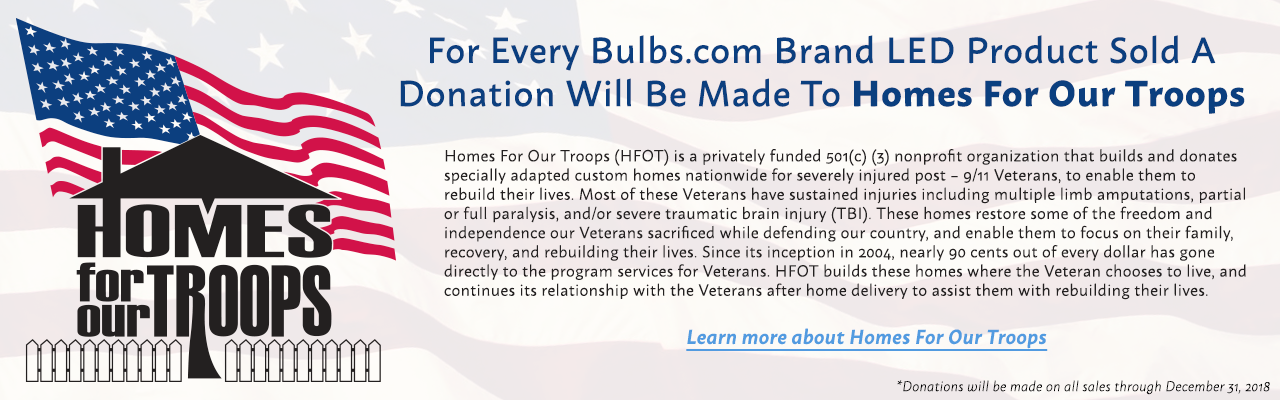 Bulbs.com supports Homes for our Troops