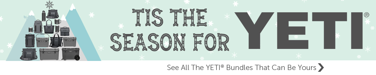 Get free yeti products with purchases $1299 and more - use promo code YETIHOLIDAY at checkout.